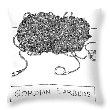 Gordian Earbuds Throw Pillow