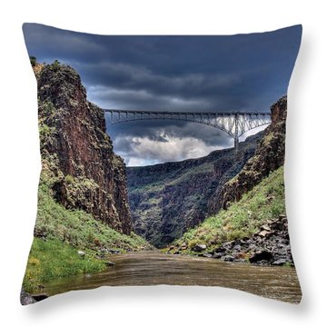 Gorge Bridge Throw Pillow
