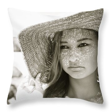 Gorgeous Young Woman Throw Pillow by Kicka Witte