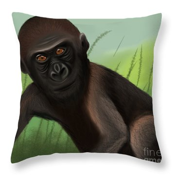 Gorilla Greatness Throw Pillow