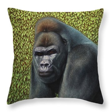 Gorillas Throw Pillows