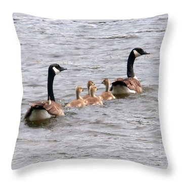 Gosling Escort Throw Pillow