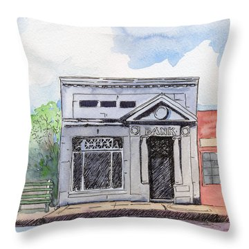 Gosport Bank Throw Pillow by Katherine Miller