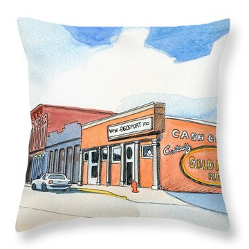 Gosport Indiana 1 Throw Pillow by Katherine Miller