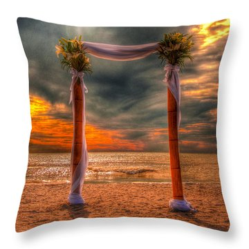 Throw Pillow featuring the photograph Got Away? by Julis Simo