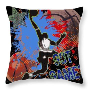 Got Game? Throw Pillow by David G Paul