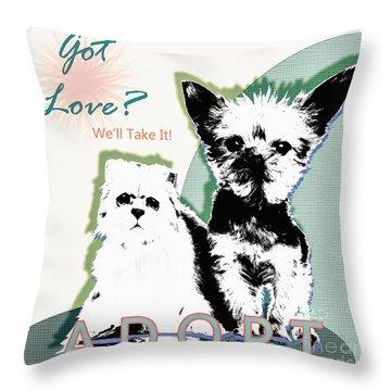 Got Love Adopt A Pet Poster Art Throw Pillow