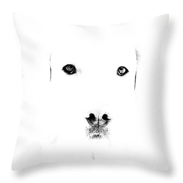Dog Face Throw Pillow
