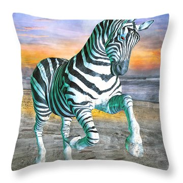 Got My Stripes Throw Pillow