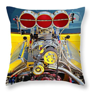 Throw Pillow featuring the photograph 1000 Hp Pro Street Z28 by Aaron Berg