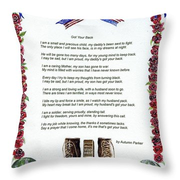 Got Your Back Throw Pillow by Andrew Read
