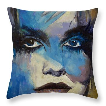 Goth Girl Throw Pillow