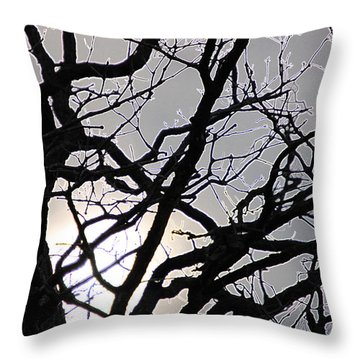 Goth Tree Throw Pillow by First Star Art
