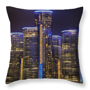 Gotham Detroit Throw Pillow