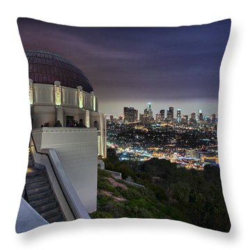 Gotham Griffith Observatory Throw Pillow