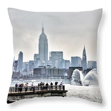 Gotham Harbor Throw Pillow by Nishanth Gopinathan