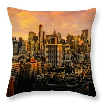 Throw Pillow featuring the photograph Gotham Sunset by Chris Lord