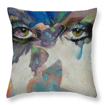 Gothic Butterflies Throw Pillow
