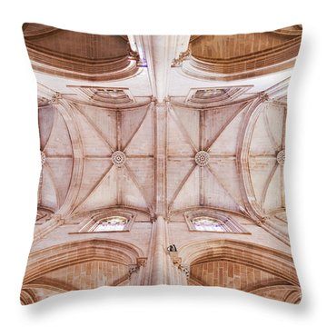 Gothic Ceiling Of The Batalha Monastery Church Throw Pillow by Jose Elias - Sofia Pereira
