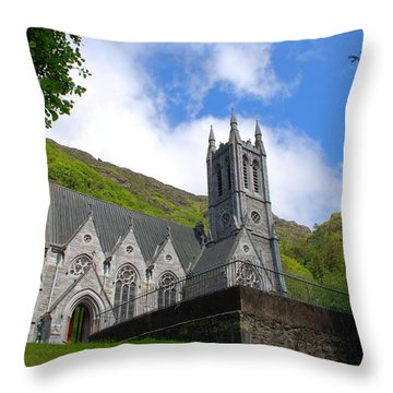 Gothic Church Throw Pillow by Charlie and Norma Brock
