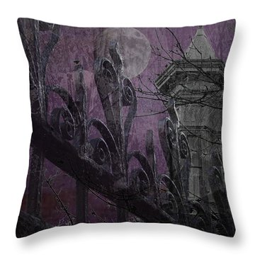 Gothic Moonlight Throw Pillow by Suzanne Powers
