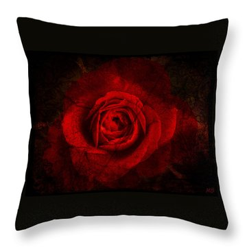 Gothic Red Rose Throw Pillow by Absinthe Art By Michelle LeAnn Scott