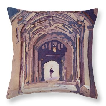 Gothic Spector Throw Pillow by Jenny Armitage