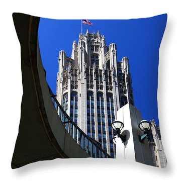 Gothic Tribune Tower Curve Throw Pillow