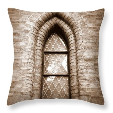 Gothic Window Throw Pillow by Carol Groenen