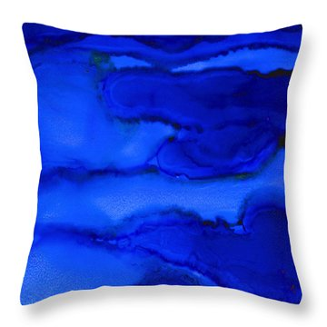 Gots The Blues Throw Pillow