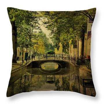 Throw Pillow featuring the photograph Gouda In Vintage Look by Annie Snel