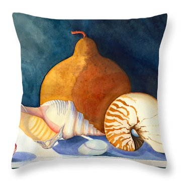 Gourd And Shells Throw Pillow