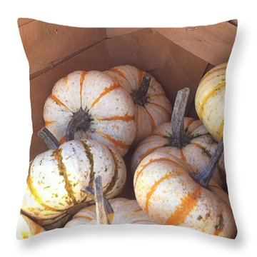 Gourd Harvest Throw Pillow by Denyse Duhaime