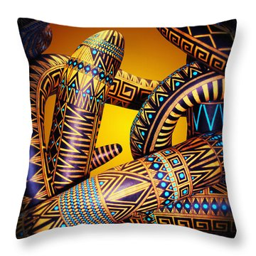 Gourd Snake Throw Pillow