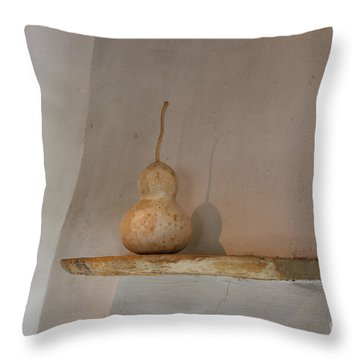 Throw Pillow featuring the photograph Gourd Still Life by Jeanette French