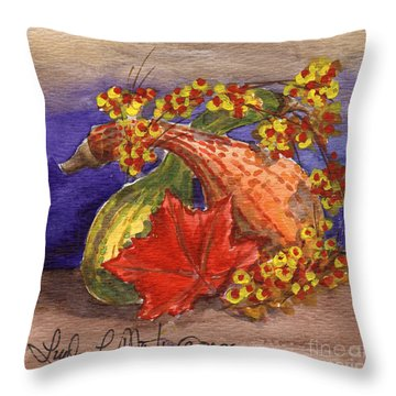 Gourds Still Life Throw Pillow