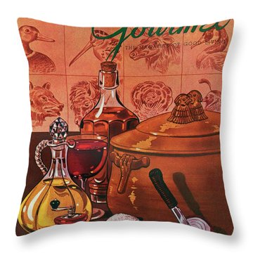 Gourmet Cover Featuring A Casserole Pot Throw Pillow