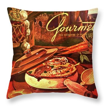 Gourmet Cover Featuring A Pot Of Stew Throw Pillow