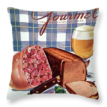 Gourmet Cover Featuring Bread Throw Pillow