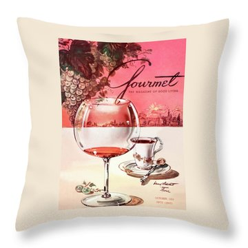 Gourmet Cover Illustration Of A Baccarat Balloon Throw Pillow