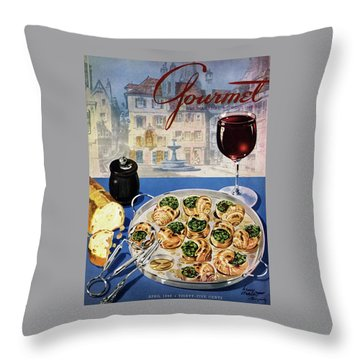 Gourmet Cover Illustration Of A Platter Throw Pillow