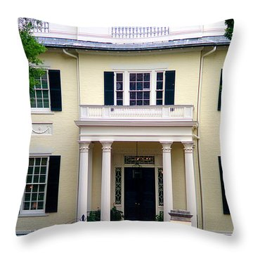 Throw Pillow featuring the photograph Va Govenors Mansion Richmond Va by Suzanne Powers