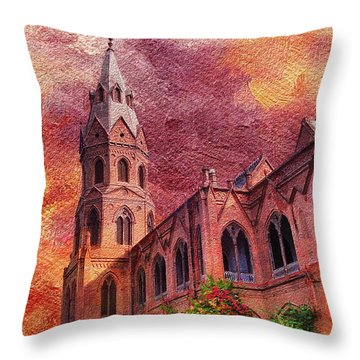 Government College Lahore Throw Pillow by Catf