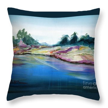 Gowrie Creek Spring Throw Pillow