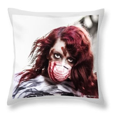 Throw Pillow featuring the photograph Grab And Destroy by Stwayne Keubrick