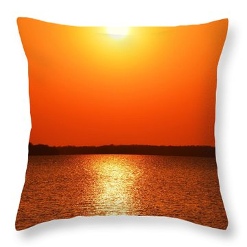 Grab Your Cup Of Coffee And Enjoy The Sunrise Throw Pillow by Dacia Doroff