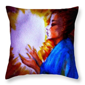 Throw Pillow featuring the painting Grace - 1 by Leanne Seymour