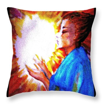 Throw Pillow featuring the painting Grace - 2 by Leanne Seymour