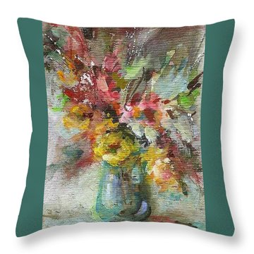 Grace And Beauty Throw Pillow by Mary Wolf