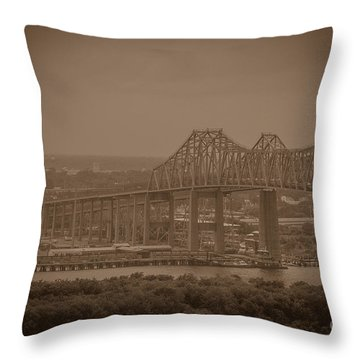 Grace And Pearman Bridges Throw Pillow
